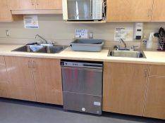 After – new sinks and a dishwasher.